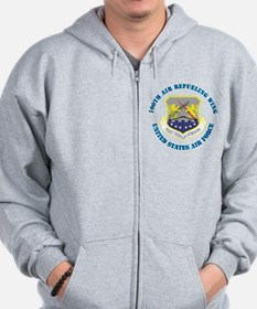 100th Air Refueling Wing with Text Zip Hoodie