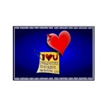 Valentine Heart and Love Not Rectangle Magnet (100
