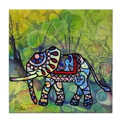 Circus Elephant Tile Coaster