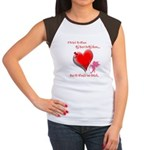 Wanted My Heart On My Sleeve Women's Cap Sleeve T-