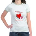 Wanted My Heart On My Sleeve Jr. Ringer T-Shirt