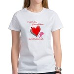 Wanted My Heart On My Sleeve Women's T-Shirt