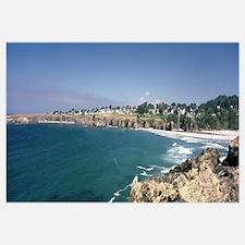 California, Mendocino, View of cliff and sea