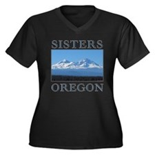 Cute Bend oregon Women's Plus Size V-Neck Dark T-Shirt