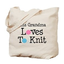 Grandma Loves Knitting Tote Bag