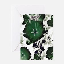 Green Floral Greeting Card