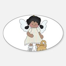 Angel Louise and Capt. Fluff Sticker (Oval)