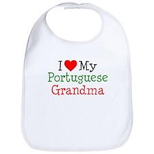 I Love Portuguese Grandma Bib