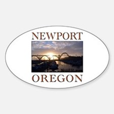 Funny Sisters oregon Sticker (Oval)