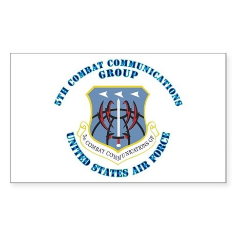 5th Combat Communications Group with Text Sticker