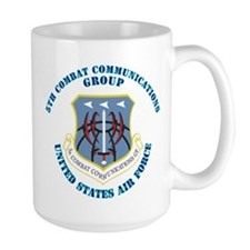 5th Combat Communications Group with Text Mug