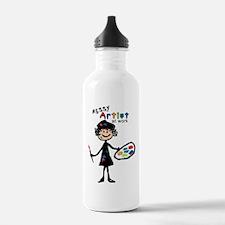 Messy Artist At Work Water Bottle