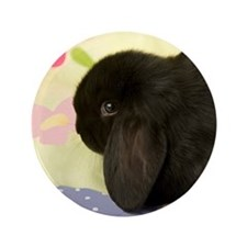 """Sweet Pea Bunny 3.5"""" Button"""