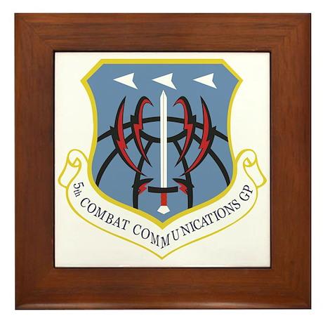 5th Combat Communications Group Framed Tile