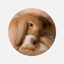 """Cuddle Bunnies 3.5"""" Button"""