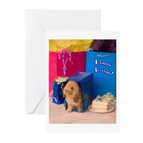 Birthday Bunny Greeting Cards (Pk of 10)