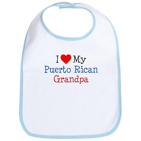 I Love Puerto Rican Grandpa Bib