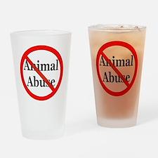 No Animal Abuse Drinking Glass