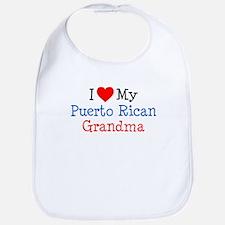 I Love Puerto Rican Grandma Bib