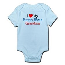 I Love Puerto Rican Grandma Infant Bodysuit