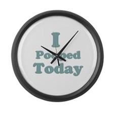 I Pooped Today 2 Large Wall Clock