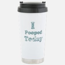 Faded I Pooped Today 2 Travel Mug