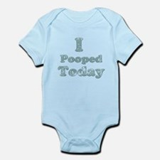 Faded I Pooped Today 2 Infant Bodysuit