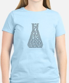 Chemical Elements Erlenmeyer - black text T-Shirt