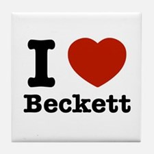 I love Beckett Tile Coaster