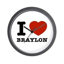 I love Braylon Wall Clock