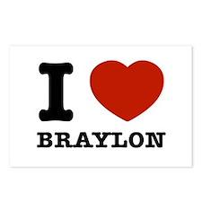I love Braylon Postcards (Package of 8)