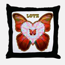 Wings of Love Throw Pillow