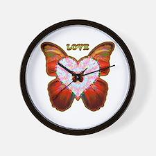 Wings of Love Wall Clock