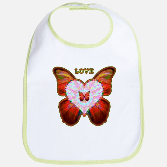 Wings of Love Cotton Baby Bib