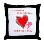 Valentine Heart and Love Not Throw Pillow