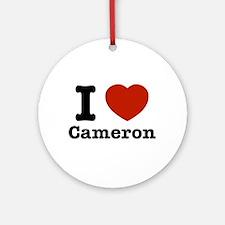 I love Cameron Ornament (Round)