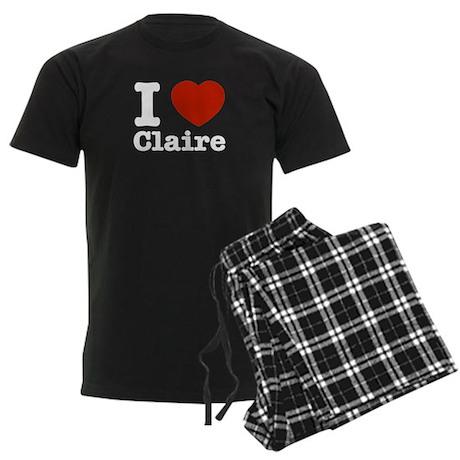 I love Claire Men's Dark Pajamas