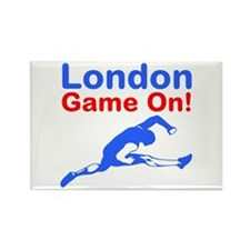 London Game On Rectangle Magnet