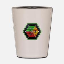 4D Hypercube Crop Circle Shot Glass