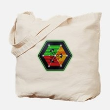 4D Hypercube Crop Circle Tote Bag