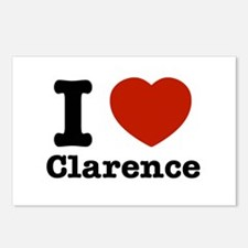 I love Clarence Postcards (Package of 8)