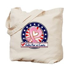 Vote Cure Breast Cancer Tote Bag