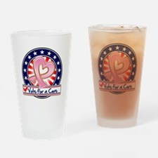Vote Cure Breast Cancer Drinking Glass