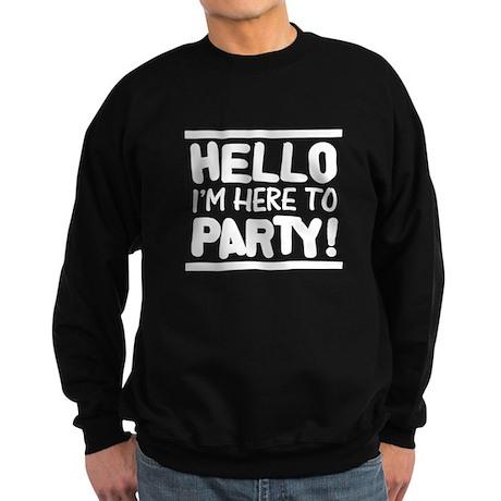 Here to PARTY! - Darks Sweatshirt (dark)