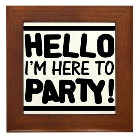 Here to PARTY! - Lights Framed Tile