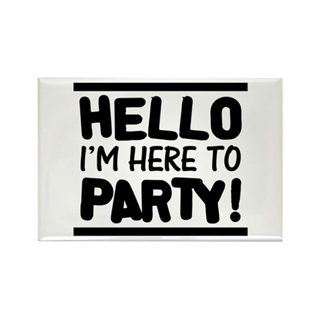 Here to PARTY! - Lights Rectangle Magnet (100 pack