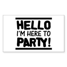 Here to PARTY! - Lights Decal