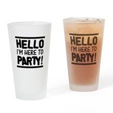 Here to PARTY! - Lights Drinking Glass