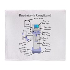 More Respiratory Therapy Throw Blanket