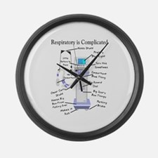 More Respiratory Therapy Large Wall Clock